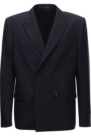 VALENTINO Herren Jacken - Logo Double Breasted Wool Jacket