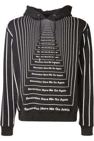 Paco rabanne Herren Sweatshirts - All Over Print Cotton Sweatshirt Hoodie