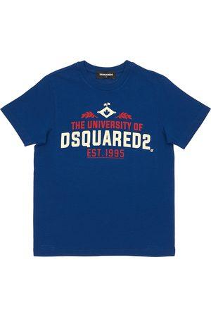 Dsquared2 T-shirt Aus Baumwolljersey Mit Uni-druck