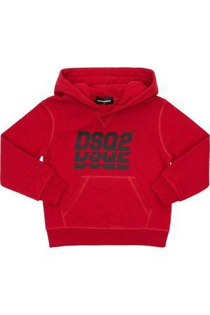 Dsquared2 Hoodie Aus Baumwollfleece Mit Logodruck