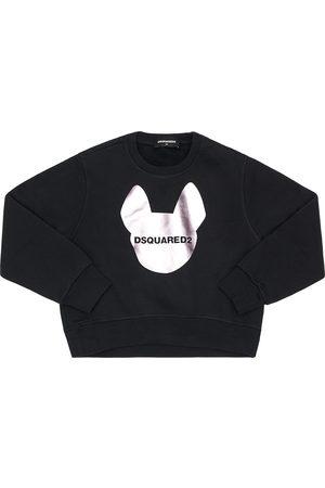 Dsquared2 Damen Sweatshirts - Sweatshirt Aus Baumwolle Mit Logodruck