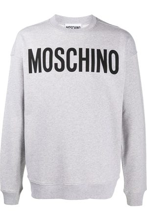 Moschino Logo print crew neck sweatshirt