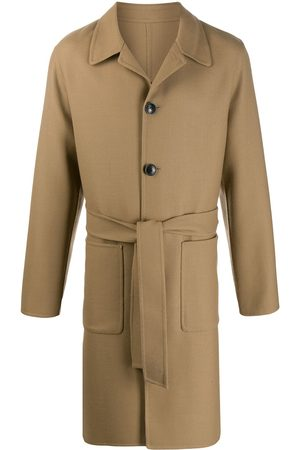 Ami Unstructured belted car coat