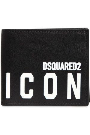 Dsquared2 Herren Handtaschen - Brieftasche Aus Leder Mit Druck