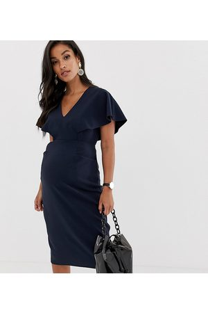 ASOS Maternity Damen Midikleider - ASOS DESIGN Maternity angel sleeve midi pencil dress in