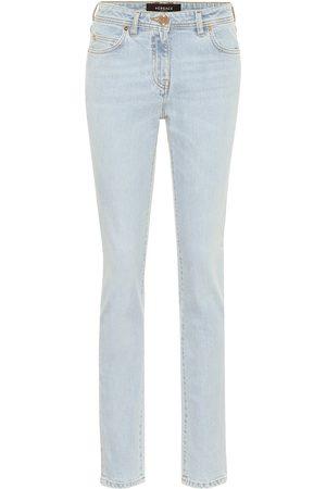 VERSACE High-Rise Slim Jeans