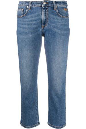 Msgm Crystal-embellished cropped jeans