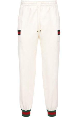 Gucci Herren Jogginghosen - Trainingshose Aus Baumwolle Mit Logodetails