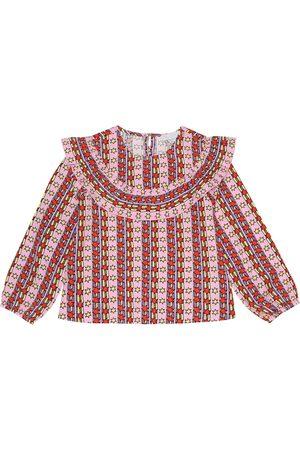 Stella McCartney Bedruckte Bluse aus Twill
