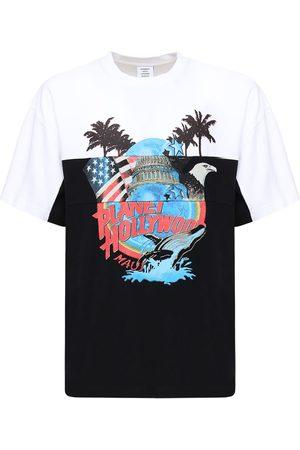 Vetements T-shirt Aus Baumwolle Mit Druck