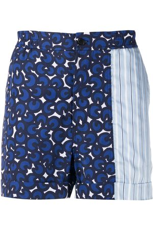 Neil Barrett Herren Shorts - Printed bermuda shorts
