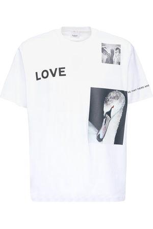 Burberry Bedrucktes T-shirt Aus Baumwolljersey