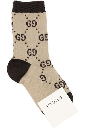Gucci Socken Aus Baumwollstrick Mit Logo