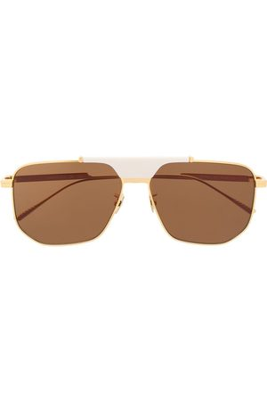 Bottega Veneta Sonnenbrillen - BV1036S hexagonal-frame sunglasses