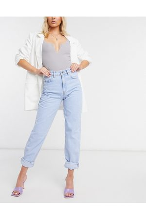 ASOS Damen Baggy & Boyfriend - High rise 'Slouchy' mom jeans in brightwash