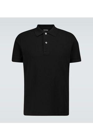 Tom Ford Kurzarm-Poloshirt aus Baumwolle