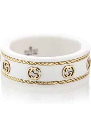 Gucci Damen Ringe - Ring Icon aus 18kt Gelbgold und weißem Zirkon