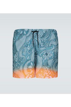 DRIES VAN NOTEN Badeshorts mit Batik-Print