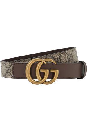 "Gucci 30mm Breiter Ledergürtel ""gg Supreme Marmont"""