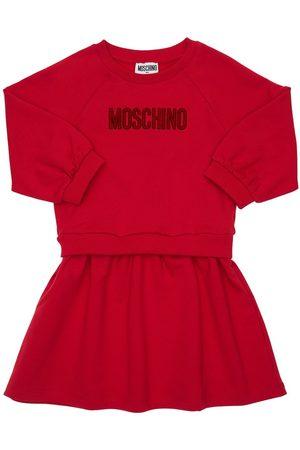 Moschino Damen Kleider - Kleid Aus Baumwollfleece Mit Logo