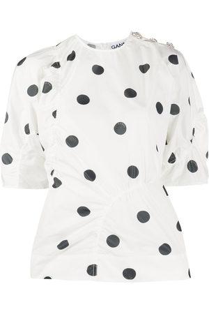 Ganni Polka-dot blouse