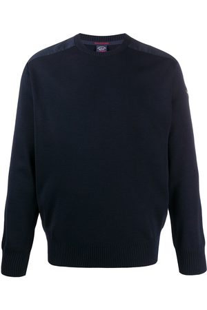 Paul & Shark Herren Sweatshirts - Crew neck logo patch sweater