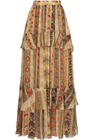 Etro Tapestry print silk maxi skirt