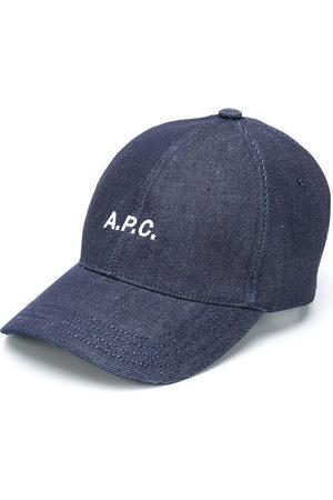A.P.C. Herren Hüte - Embroidered logo denim cap