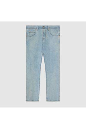 Gucci Herren Slim - Schmal zulaufende Hose aus gewaschenem Denim