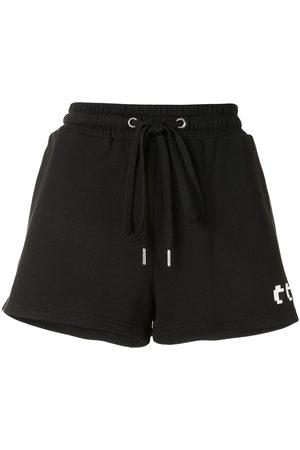 MOSTLY HEARD RARELY SEEN Logo drawstring track shorts