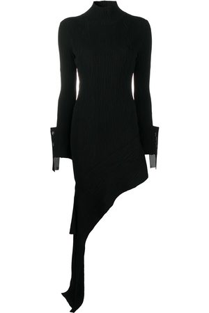 OFF-WHITE Damen Asymmetrische Kleider - Draped asymmetric knitted dress