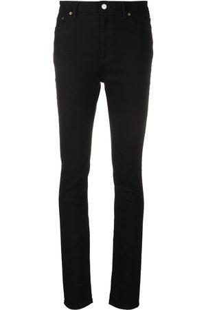Acne Studios Damen High Waisted - Peg Blk high-rise skinny jeans