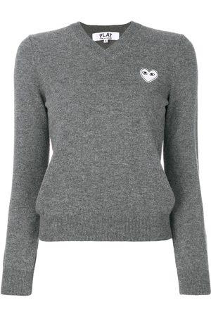 Comme des Garçons Knitted heart logo sweater