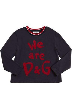 Dolce & Gabbana Langärmeligs T-shirt Aus Baumwolljersey