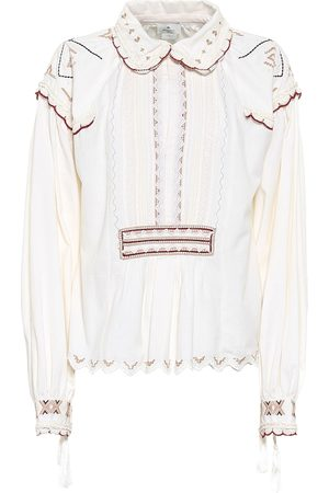 Etro Bestickte Bluse aus Baumwolle