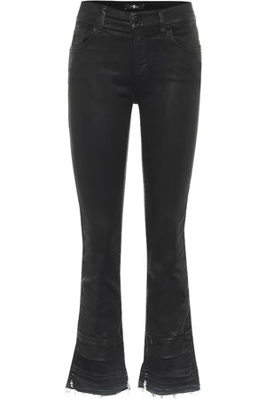 7 for all Mankind Damen High Waisted - Mid-Rise Cropped Bootcut Jeans