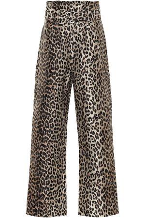 Ganni Damen Weite Hosen - Bedruckte Hose aus Jacquard