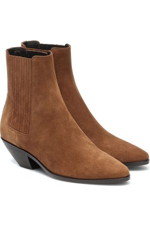 Saint Laurent Ankle Boots West 45 aus Veloursleder