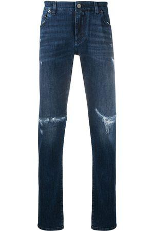 Dolce & Gabbana Logo plaque distressed jeans