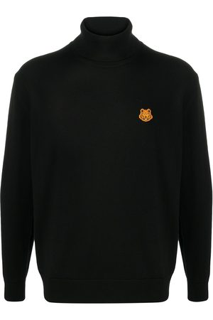 Kenzo Roll neck wool jumper with tiger motif