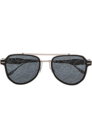 A BATHING APE® Lens-decal square sunglasses