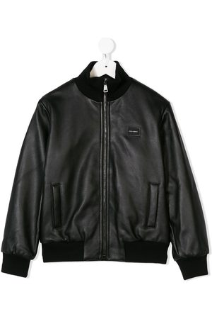 Dolce & Gabbana Jungen Lederjacken - Leather bomber jacket