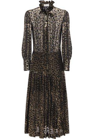 Saint Laurent Damen Freizeitkleider - Hemdkleid Aus Georgette