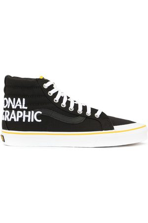Vans SK8 National Geographic embroidered high-top sneakers