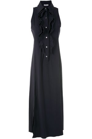 AMIR SLAMA Ruffle-trim maxi dress