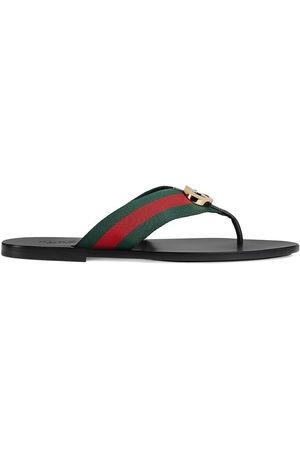 Gucci Herren Sandalen - Striped logo-embellished sandals
