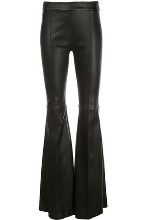 ROSETTA GETTY Damen Leder & Lederimitathosen - Leather flared trousers
