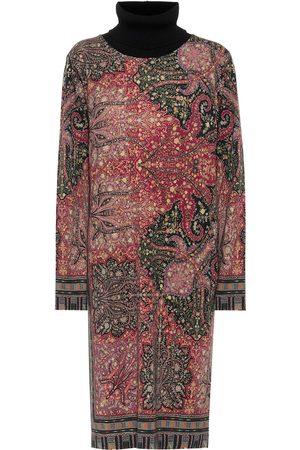 Etro Bedrucktes Midikleid aus Wolle