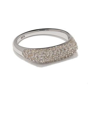 TOM WOOD Knut crystal studded ring