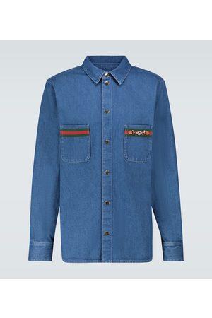 Gucci Verziertes Jeanshemd